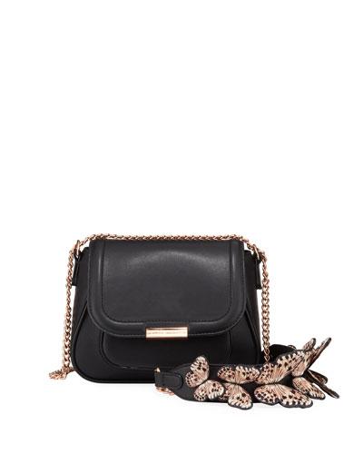Eloise Mini Leather Butterfly Shoulder Bag