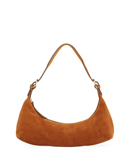 BY FAR Mara Suede Shoulder Bag