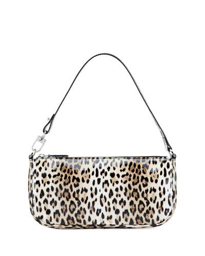 Rachel Patent Leopard Shoulder Bag