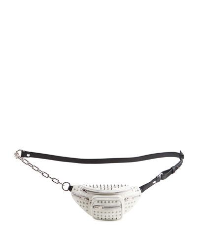 Attica Mini Soft Spikes Leather Fanny Pack/Crossbody Bag