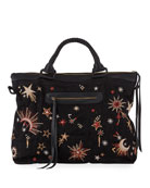 Johnny Was Telesto Celestial Embroidered Overnight Tote Bag