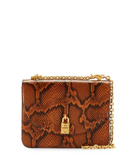 Rebecca Minkoff Love Too Python-Embossed Shoulder Bag