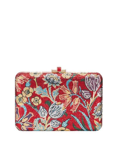 Slim Slide Floral Filigree Clutch Bag