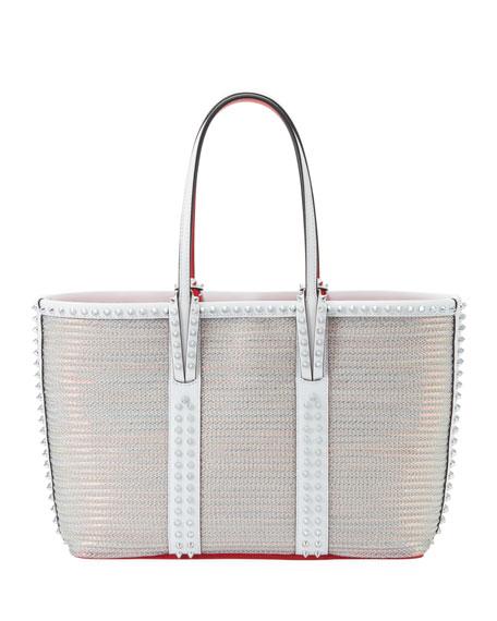 Christian Louboutin Cabata Iridescent Studded Small Tote Bag
