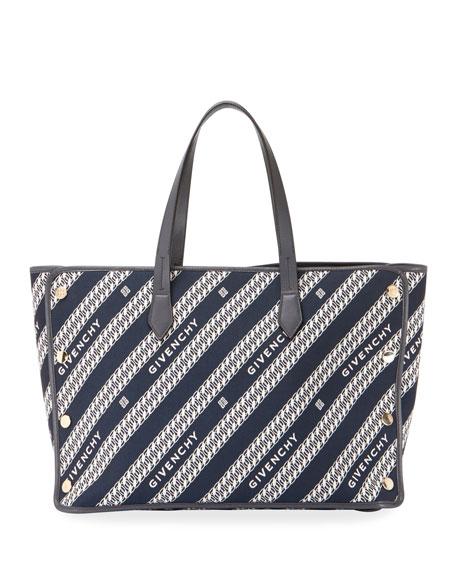 Givenchy Medium Bond Chain Canvas Tote Bag