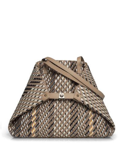 AI Medium Soft Woven Shoulder Tote Bag