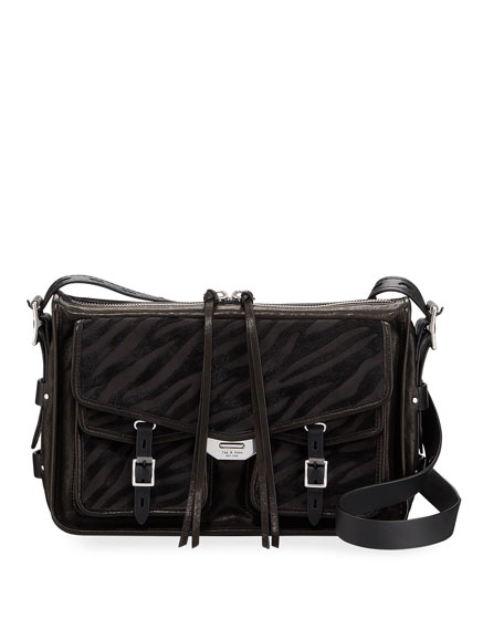 Rag & Bone Calf Hair Field Messenger Crossbody Bag