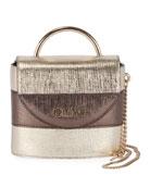 Chloe Aby Lock Lizard-Embossed Top-Handle Bag