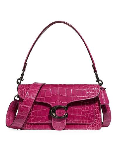 Crocodile Leather Shoulder Bag