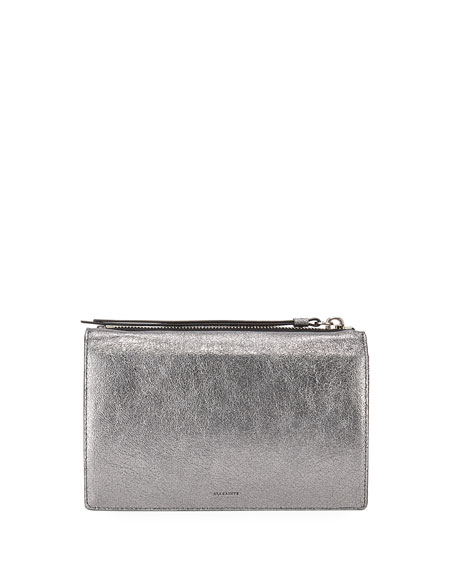 AllSaints Miki Leather Chain Wallet Crossbody Bag