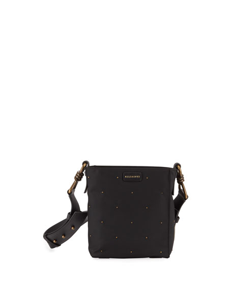 AllSaints Nilo Small Leather Crossbody Tote Bag