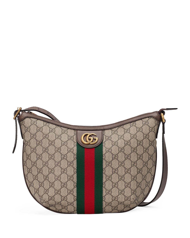Gucci Bags OPHIDIA SMALL GG SUPREME HOBO BAG