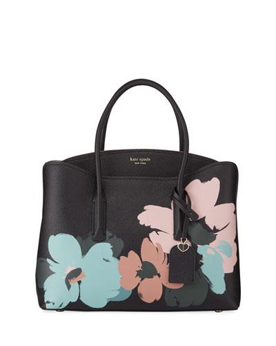 margaux brush bloom large satchel bag
