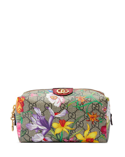 Ophidia Medium GG Flora Cosmetics Clutch Bag