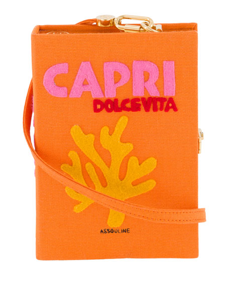 Olympia Le-Tan Capri Strapped Book Clutch Bag