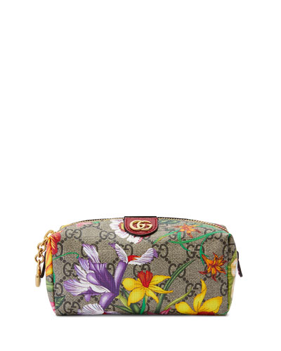Ophidia Small GG Flora Cosmetics Clutch Bag