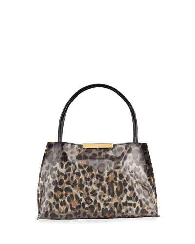 Charlotte Leopard-Print Vinyl Bag