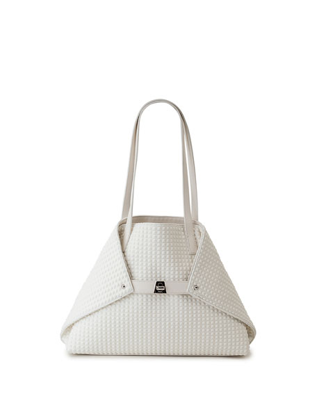 Akris AI Small Techno Trapezoid Shoulder Tote Bag