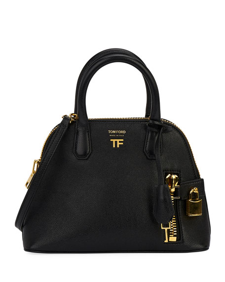 TOM FORD Buffalo Grain Small Top Handle Bag