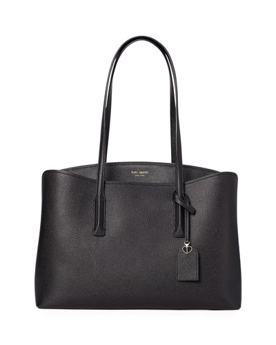 margaux large leather work tote bag
