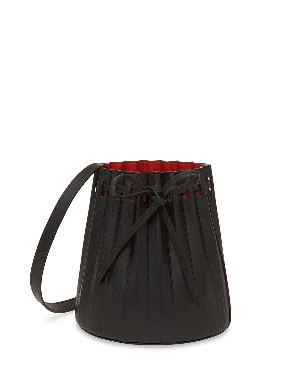 Mini Pleated Vegetable-Tanned Bucket Bag