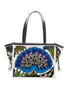 Loewe Cushion Floral Tote Bag