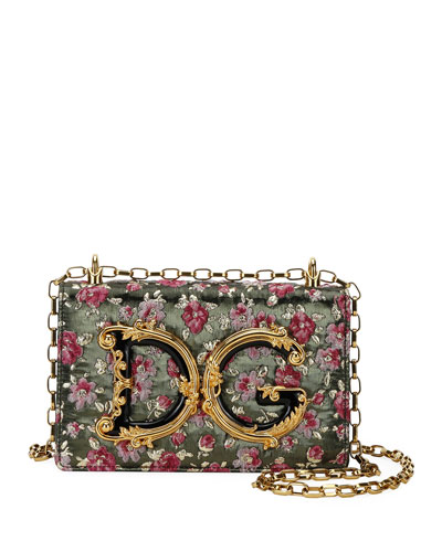 DG Girl Baroque Chain Crossbody Bag