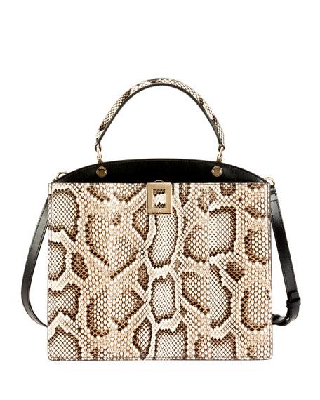 Roger Vivier So Vivier Medium Python Shoulder Bag