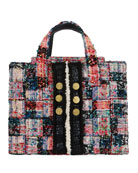 Kooreloo Diana Pixel Tweed Book Tote Bag