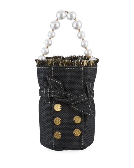 Kooreloo Charlotte Tweed Pearly Pouch Bag