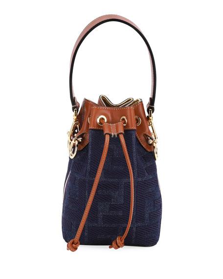 Fendi Mon Tresor Mini Jeans Reactive Bucket Bag