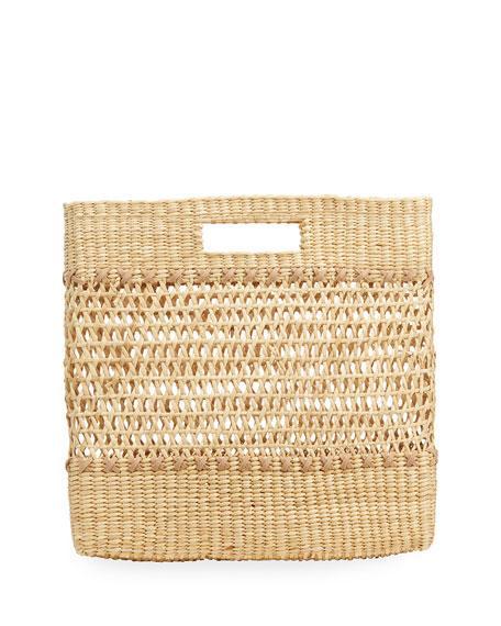 Nannacay Carina Straw Clutch Bag