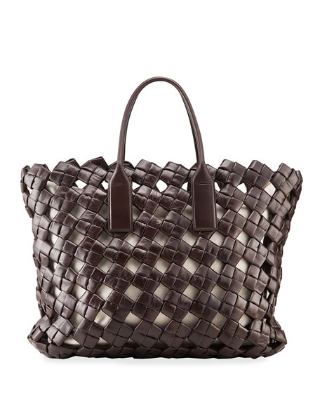Bottega Veneta Intrecciato Medium North/South Tote Bag