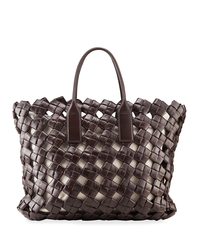 Intrecciato Medium North/South Tote Bag