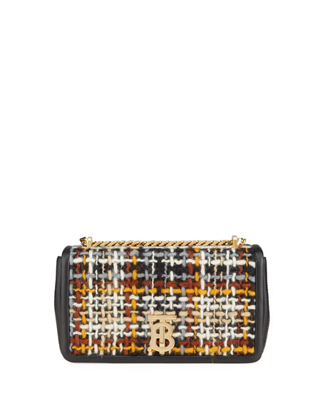 Burberry Woven Tweed Small Lola Crossbody Bag