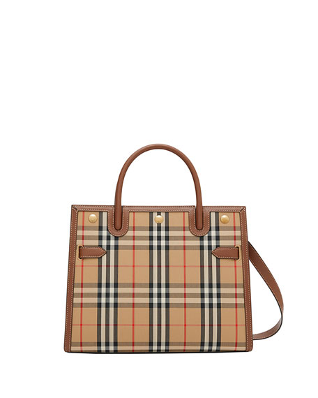 Burberry Small Vintage Check Title Bag