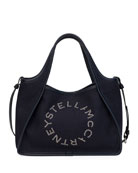 Stella McCartney Linen Logo Crossbody Tote Bag