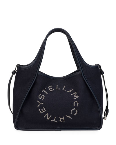 Linen Logo Crossbody Tote Bag