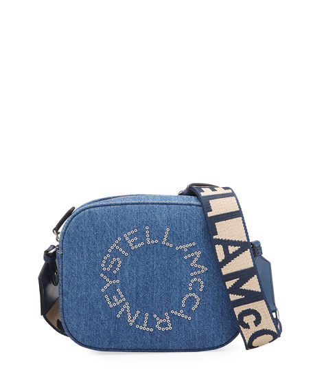 Stella McCartney Falabella Mini Denim Logo Camera Bag