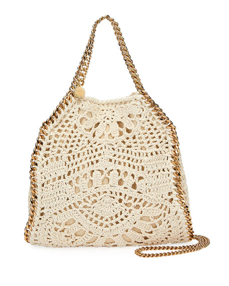 Stella McCartney Falabella Mini Crochet Ajouree Tote Bag