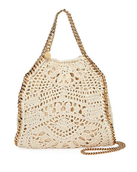 Stella McCartney Falabella Mini Crochet Ajouree Tote Bag