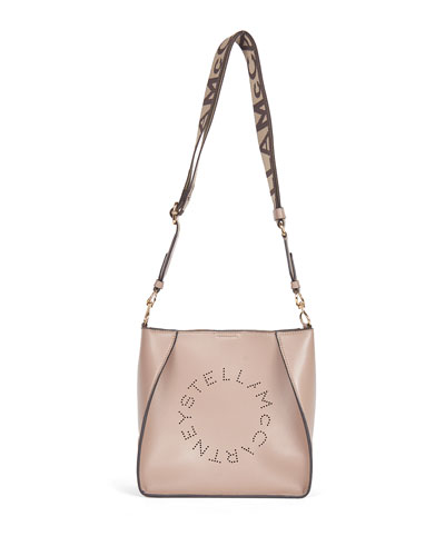 Mini Perforated Logo Alter Napa Crossbody Bucket Bag