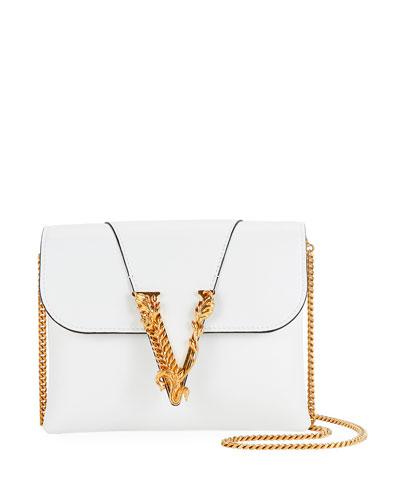Virtus Leather Evening Shoulder Bag