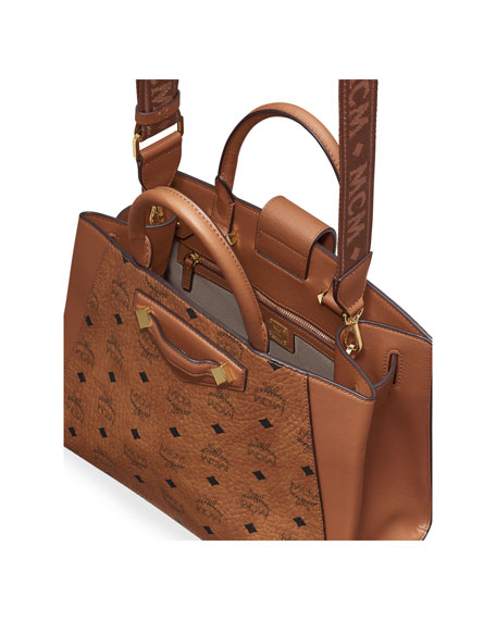 MCM Essential Visetos Original Medium Tote Bag