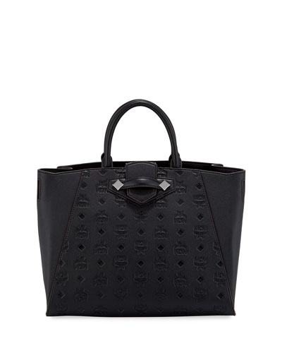 Essential Medium Monogrammed Leather Tote Bag