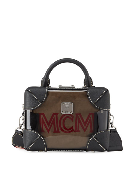 MCM Berlin Soft Clear Crossbody Box Bag