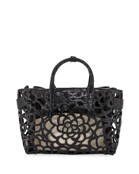 Nancy Gonzalez Limited-Edition Cristie Medium Camellia Croc Tote Bag