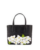 Nancy Gonzalez Limited Edition Erica Mini Floral Crocodile