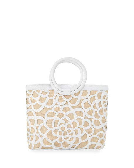 Nancy Gonzalez Limited-Edition Camellia Ring-Handle Tote Bag