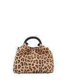 Elleme Baozi Leopard-Print Leather Top-Handle Bag
